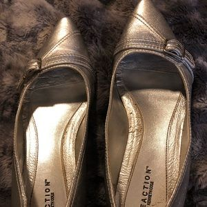 Silver Kenneth Cole Reaction flats.